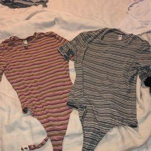 2 American appears strip body suit